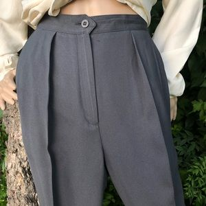 VINTAGE   High waisted pleated front dress pants
